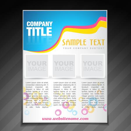 vector modern company brochure flyer poster template