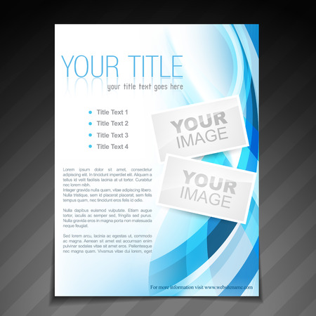 poster template: vector stylish brochure flyer poster template design