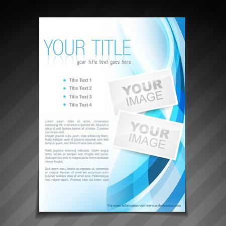 newsletter template: vector stylish brochure flyer poster template design