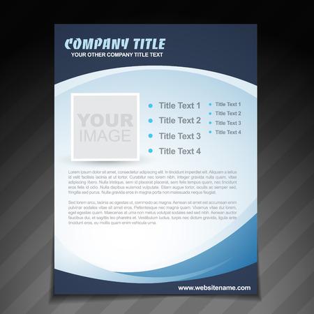ベクトル会社チラシ パンフレット デザイン