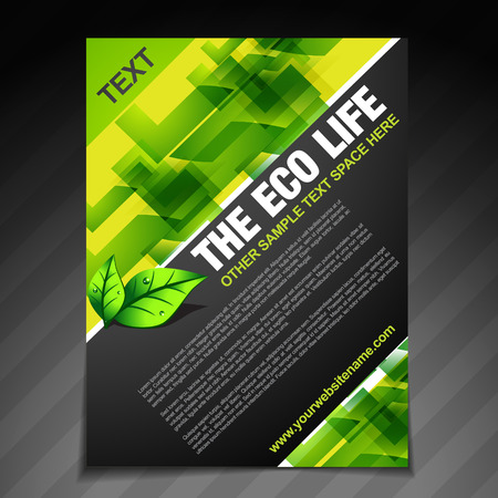 save planet: vector eco lilfe brochure flyer design