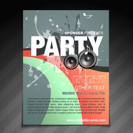 vector party brochure fluer idesign  Vector