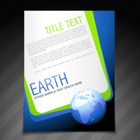 office environment: vector nature flyer brochure poster template design