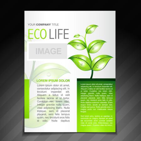 vector eco friendly flyer brochure design template  Vector