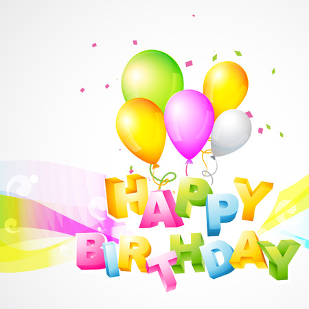 blessing: colorful vector background of birthday Illustration