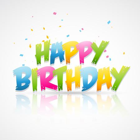 birthday invite: vector of happy birthday card