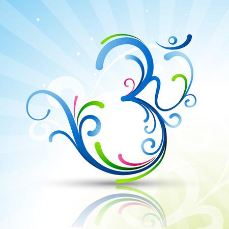 beautiful artistic vector om symbol design Vector