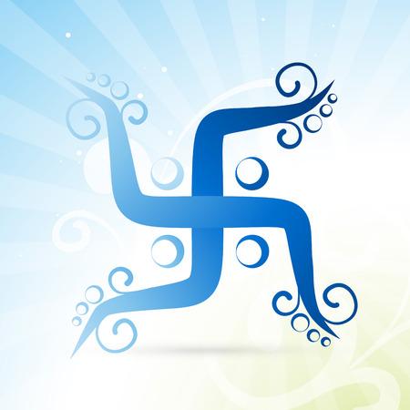 beautiful artistic swastik symbol design Vector