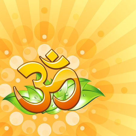om symbol: om symbol vector design illustration Illustration