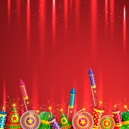 vector diwali crackers background Vector