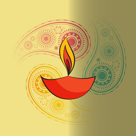 Vector diwali diya background Vector