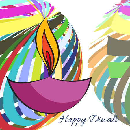 Vector colorful background of diwali Vector