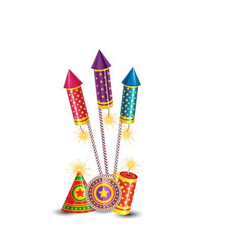 cracker: Vector diwali crackers background