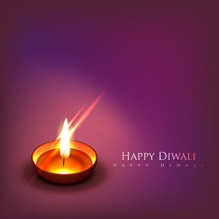 Vector beautiful diwali diya background Vector