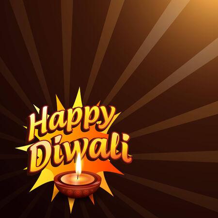 Vector stylish happy diwali background Vector