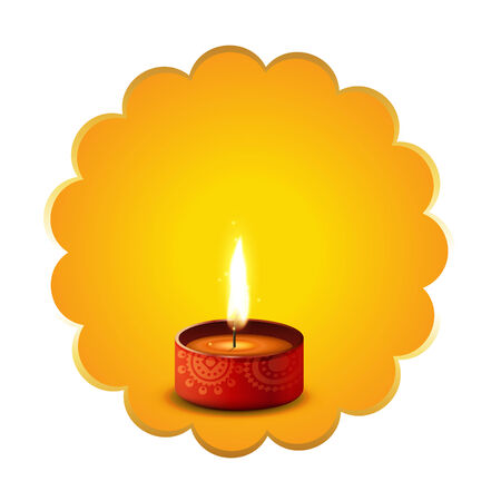 Vector hindu festival diwali diya background Vector