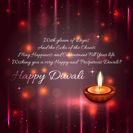 Vector beautiful diwali background Vector