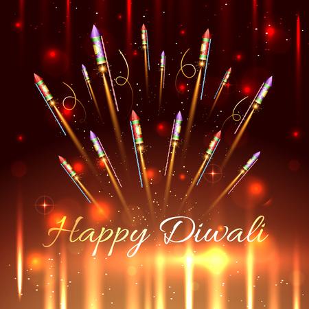 Vector happy diwali background