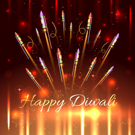 cracker: Vector happy diwali background