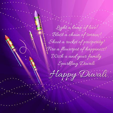 Vector diwali background with creackers Vector