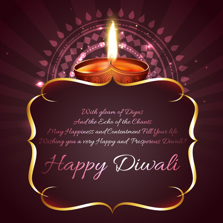 Vector diwali background with space for your text  Vectores