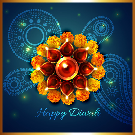 Vector artistic background of diwali Vector