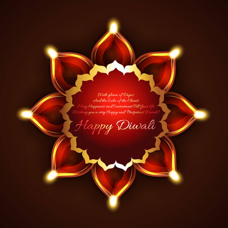 Vector creative background of diwali Vector