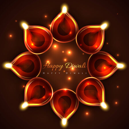 Vector happy diwali background Vector