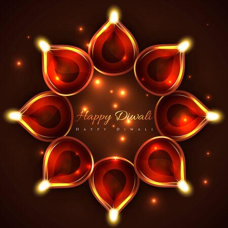 Vector happy diwali background Vector