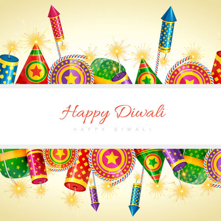 Vector happy diwali background with space for your text Vector