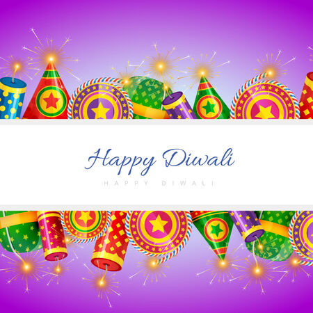 Vector background of diwali with lot of crackers Vector