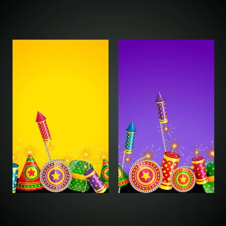 Vector illustration of diwali card Vector