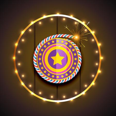 Vector stylish design of diwali Vector