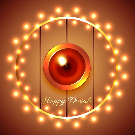 Vector happy diwali diya background Vector