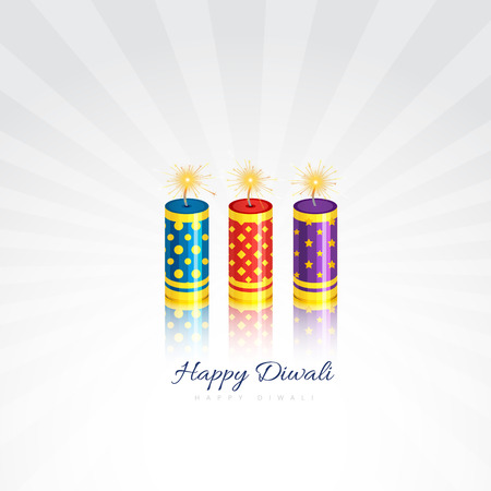 Vector diwali crakers isolated on white background Vettoriali