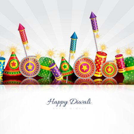 diwali greeting: Vector happy diwali card