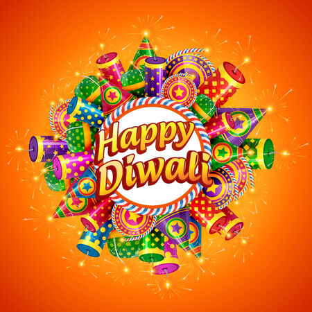 diwali celebration: Vector happy diwali background