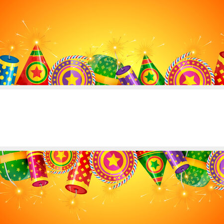 cracker: Vector diwali crackers design with space for your text