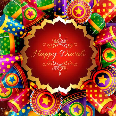 Vector beautiful background of diwali Vector