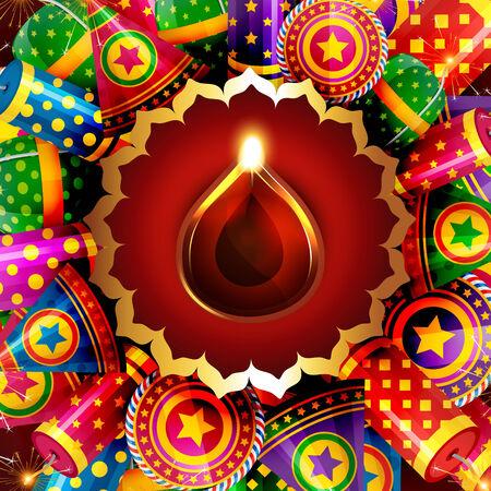 Vector attractive background of diwali Vector