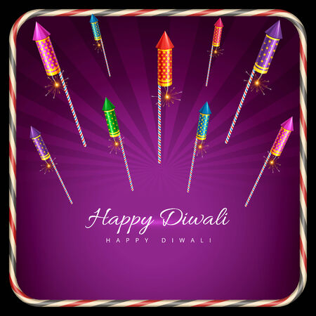 Vector stylish background of diwali Vector