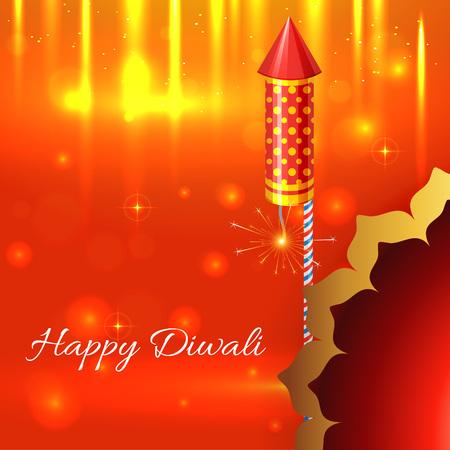 Vector beautiful shiny background of diwali Vector