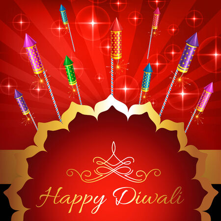 vector illustration of diwali background with lot of crackers Vector