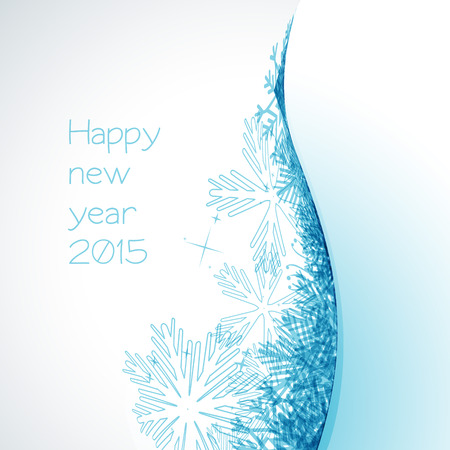 vector stylish background of happy new year 2015 Vector