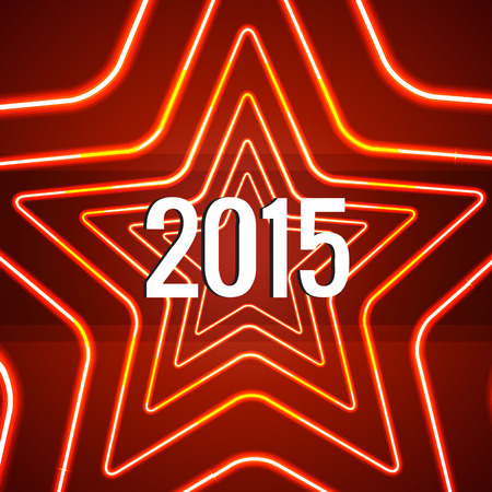 vector creative background of happy new year 2015 Vector
