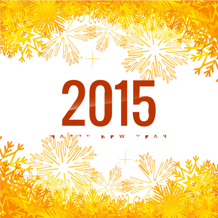 vector happy new year background of 2015 Vector