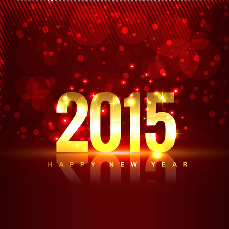 fifteen: 2015 with transparent reflection placed in front of red background