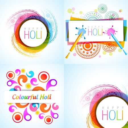 hindus: vector collection of holi background illustration Illustration