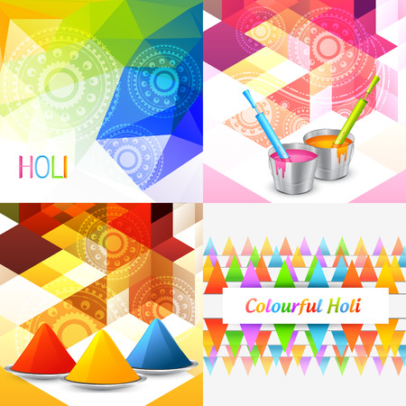 gulal: vector styllish set of holi background with colors