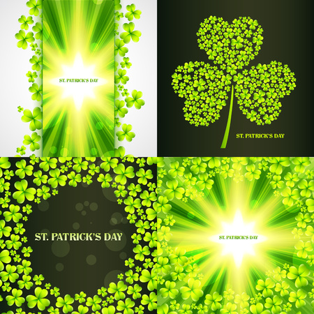 17th march: vector set of saint patricks day background illustration